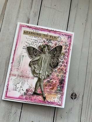 Pink Fairy Card - Any Occasion