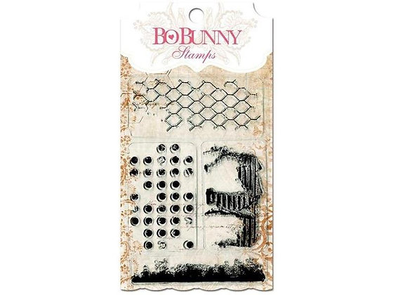 BoBunny Acrylic Stamp Set - Distressed Texture