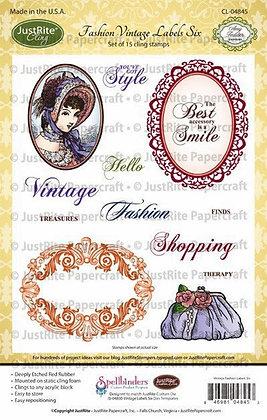 JustRite stamps -Fashion vintage Labels
