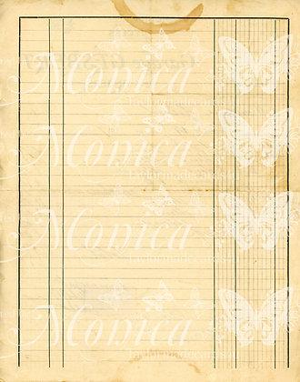 French Vintage Ledger sheet