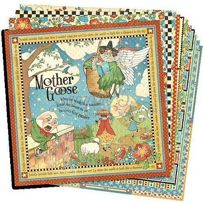 12x12 Graphic 45 Paper - Mother Goose
