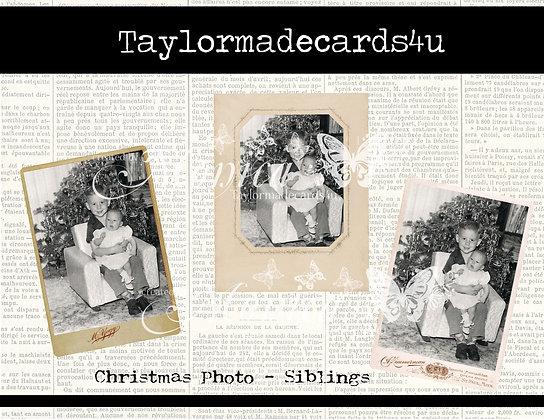 Vintage Christmas Photos - Siblings 1