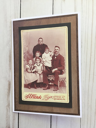 Vintage Family Father's Day Card