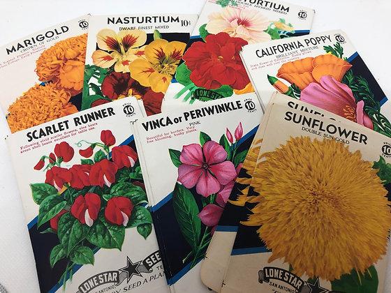 Vintage Floral seed packs