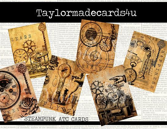 Steampunk ATC Cards