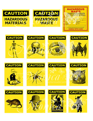 Hazardous Labels - Digital Download