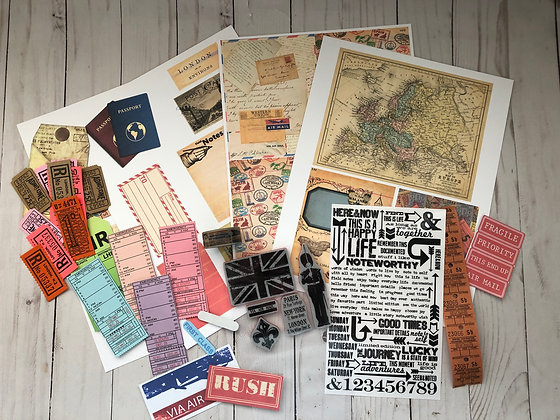 London Travel Embellishment kit