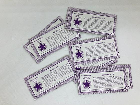 Exhibit Supply Horoscope Cards Set - set of 4