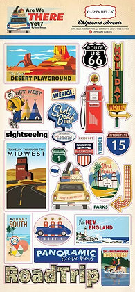 Carta Bella Are We There Yet, Adhesive Chipboard Accents
