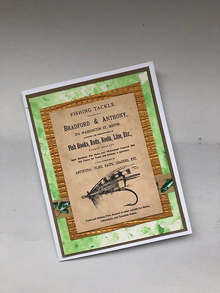 Vintage Fishing Father's Day Card
