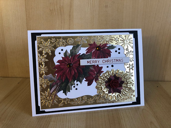 Metallic Frame Christmas Cards