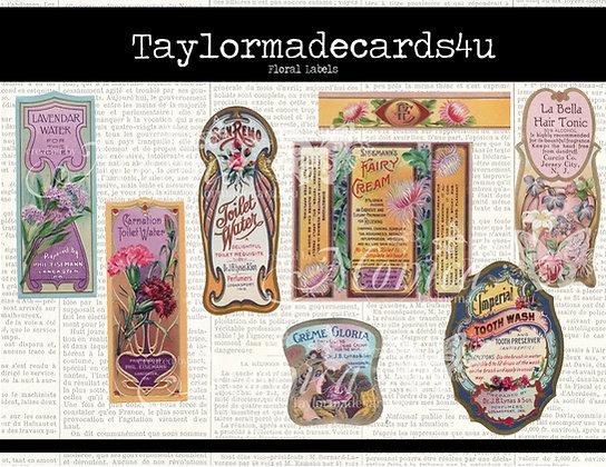 Floral Label Set