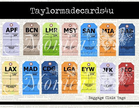 14 piece Baggage Claim Tags