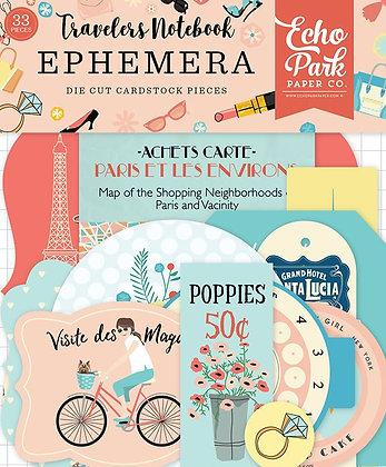 Echo Park - Metropolitan Girl Collection - Travelers Notebook - Ephemera