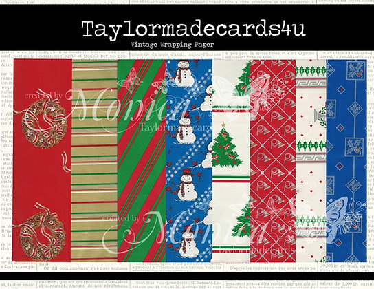 Vintage Christmas Wrapping Paper - Paper pack