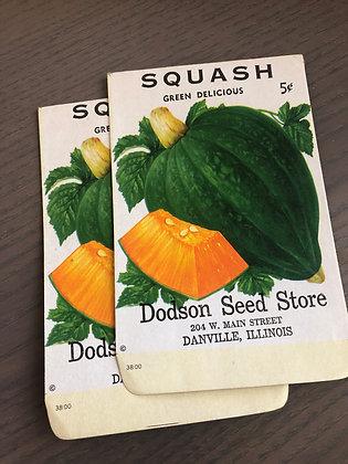 Squash Vintage Seed packs