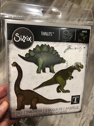 Sizzix Tim Holtz Thinlits Die Set -Prehistoric