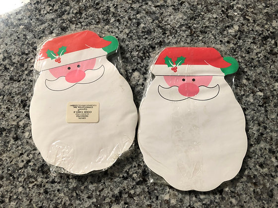 Santa Christmas Current Pads - Set of 2