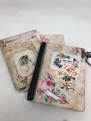 Spring Floral  Card and matching journal