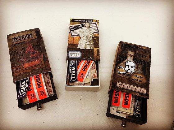 Halloween Matchbox ephemera box