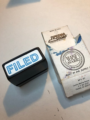Vintage Self Inking Stamp - Filed