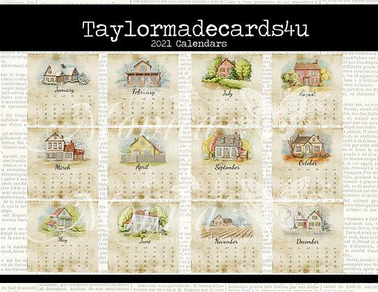2021 Vintage Style Calendars