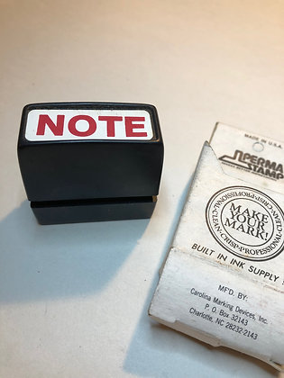 Vintage Self inking stamp by Perma Stamp - NOTE