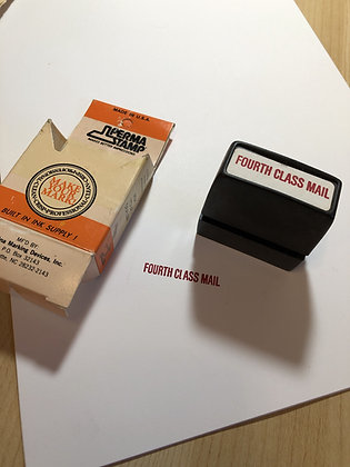 Vintage Self Inking Stamp - Fourth Class Mail