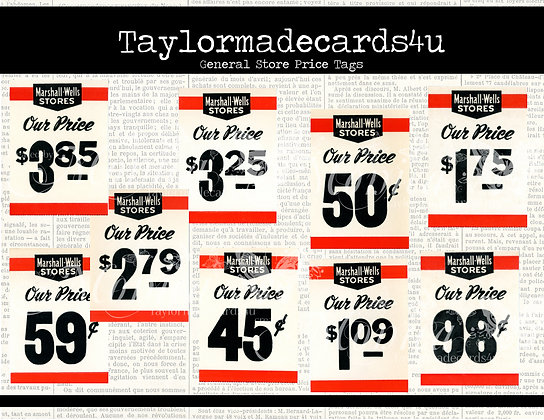General Store Price Tags