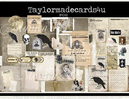 Edgar Allen Poe Digital Kit