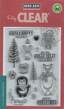 Holiday Critters Hero Arts Stamp set