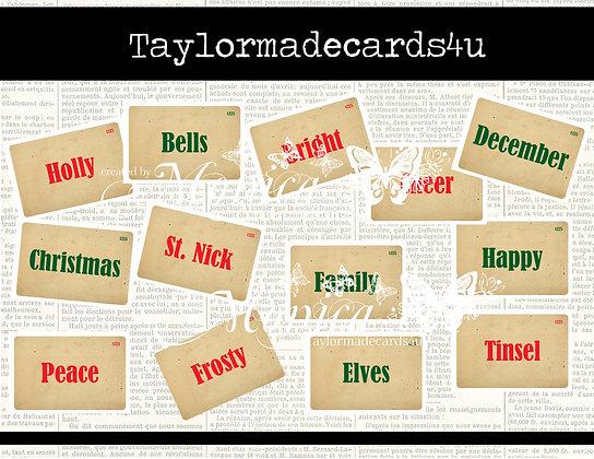 Christmas Flash Cards