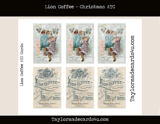 Coffee Advertisement ATC Cards - Lion Coffee