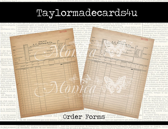 Vintage Office Order Forms