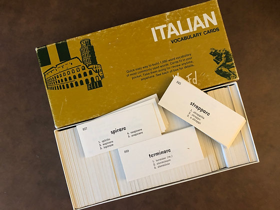 Italian Vocabulary Flash cards