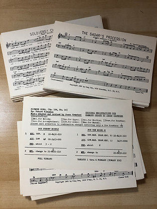 Vintage Music sheets