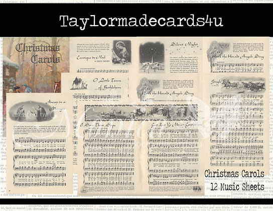 12 Christmas Carol Music Sheets