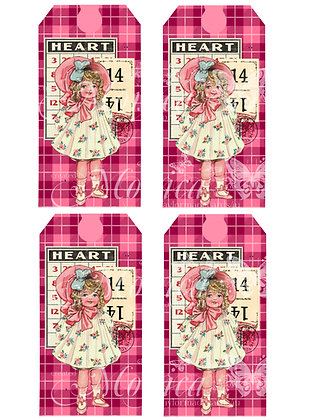Valentine Doll Tags