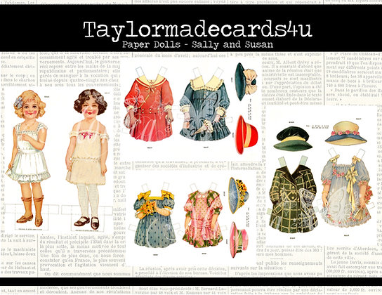 Paper Dolls - Images from 1920s - Sally and Susan