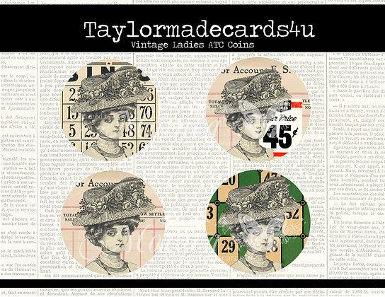 Vintage Ladies ATC Coins