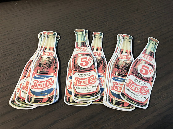 Vintage Pepsi Cola  Stickers - Reproduced from original images