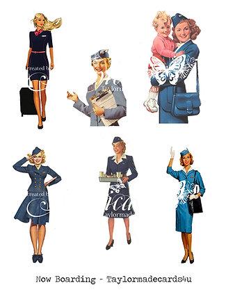 Paper Dolls - Stewardess