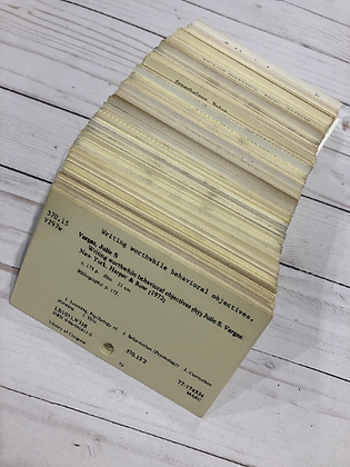 Vintage Library Catalog Cards