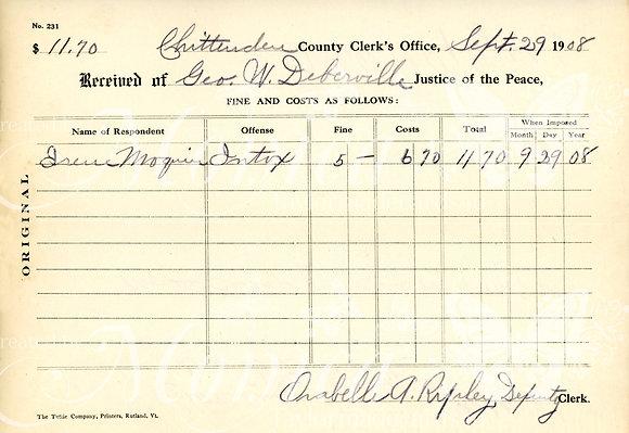 1908 Court Fine