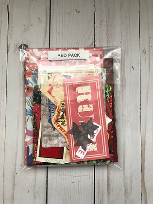 Red Embellishment Pack - Authentic Vintage& Reproduced ephemera