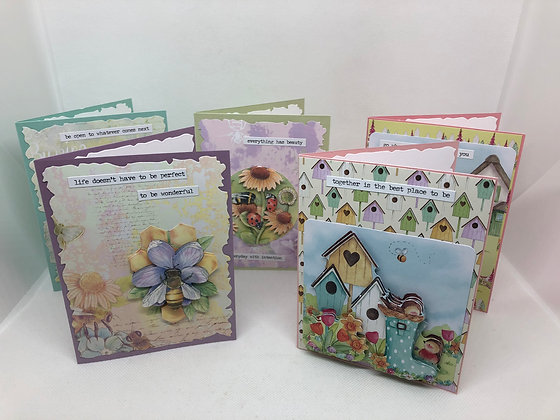 Set of 5 Summer Layered Cards