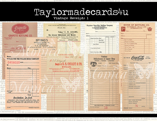 Vintage order forms, digital ephemera