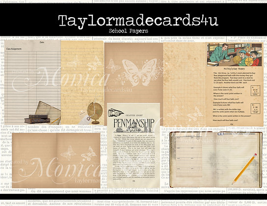 School Papers - Digital Paper Pack