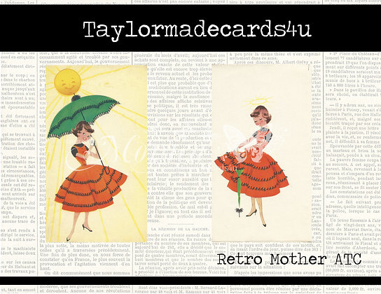 Retro Mother ATC Cards