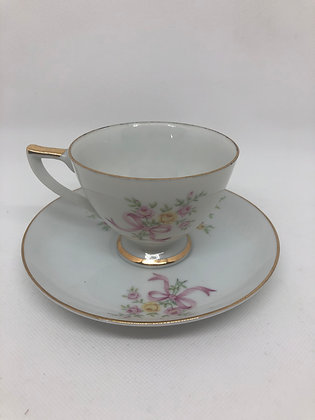Vintage LEFTON China Tea Cup & Saucer Set To my Mother